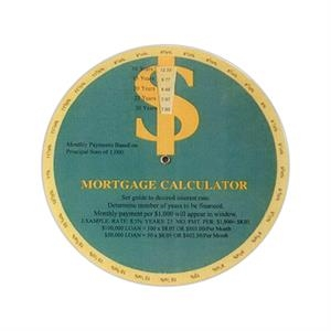 Stock Mortgage Calculator Guide Wheel Calculates Monthly Loan Payments Easily