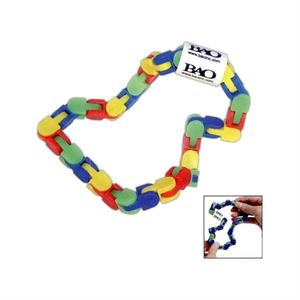 Klixx (r) Click N' Fidget Widget (tm) - Printed - Exclusive Click And Twist Multicolor Toy With 32 Links