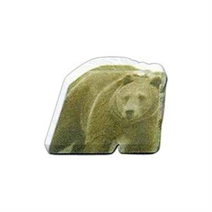 "Bear Shaped Magnet - Acrylic Die Cut Magnet, 1/4"" Thick, 6 Square Inches, Free Custom Die"
