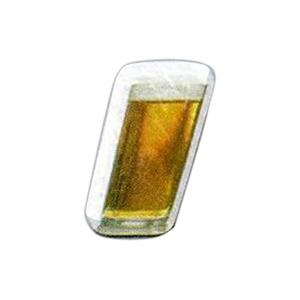 "Beer Shaped Magnet - Acrylic Die Cut Magnet, 1/4"" Thick, 3 Square Inches, Free Custom Die"