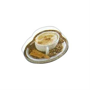 "Coffee Shaped Magnet - Acrylic Die Cut Magnet, 1/8"" Thick, 7 Square Inches"
