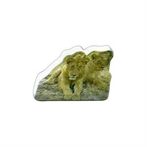 "Lions Shaped Magnet - Acrylic Die Cut Magnet, 1/8"" Thick, 7 Square Inches"