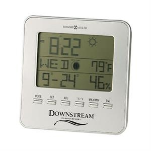 Weather View - Lcd Weather Trend Alarm Clock With Brushed Aluminum Face Plate