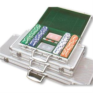 500 Chips - Poker Chip Case, With Imprinted Clay Chips