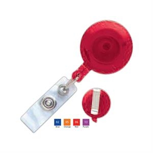 Translucent Plastic Clip-On Badge Reel