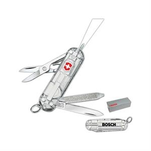 Silver Tech;swiss Army (r) - Combination Knife With Led Mini White Light And Ballpoint Pen