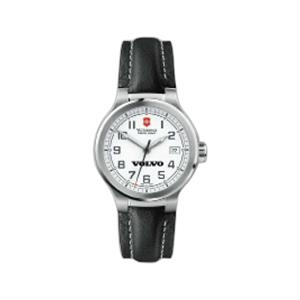 Peak Ii;swiss Army (r) - Water Resistant Watch With Black Leather Strap