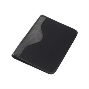 Canvas Padfolio With Leather Trim, Writing Tablet And Cotton Twill Lining