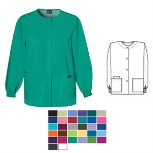 Cherokee - Scrub Jacket With Snap Front, Scoop Neck And 2 Lower Pockets, Blank