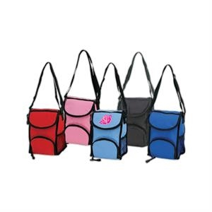 Insulated Lunch Bag With Front Flap And Velcro Closure