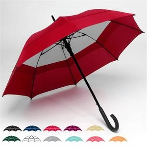 "Windy City (r) - Double Canopy 48"" Solid Umbrella With Matching Carrying Case With Shoulder Strap"