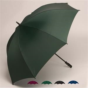 "Wind-strong (tm) - Oversized 62"" Single Canopy Solid Golf Umbrella With New Pvc Soft Feel Handle"