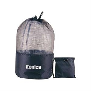 Foldable Expandable Drawstring Mesh Bag With Small Pouch