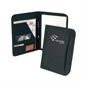 Polycanvas Padfolio With Interior Organizer, Clear Pocket For Id Or Calculator