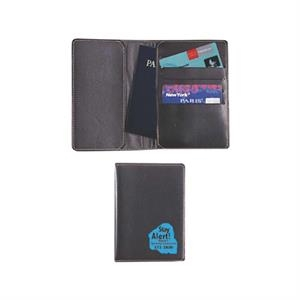 Passport Holder With Passport Pocket And Card Holders Made Of Simulated Leather