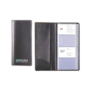 Classic Business Card Holder Holds 96 Business Cards Made Of Simulated Leather