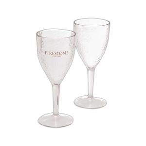 Hammered Polystyrene Wine Glass