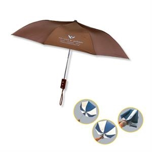 "The Revolution - Automatic Opening Folding Nylon Windproof Umbrella With Machine Tips, 42"" Arc"