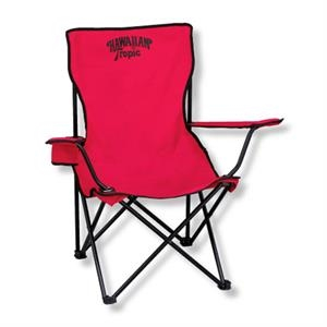 The Tailgate - Portable Sport Chair In 600 Denier Polyester, Includes Arm Rest With Cup Holder