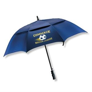 "The Open - Vented Golf 58"" Arc Umbrella With Fiberglass Shaft/duraflex (tm) Fiberglass Ribs"