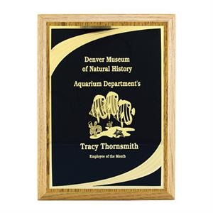 "Classic W 8"" X 10"" Oak Finish Plaque Award With Plate"
