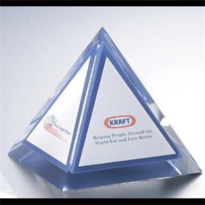 "Blank Goods. Prism Shape Embedment Paperweight Or Award, 4"" X 4"" X 4"""
