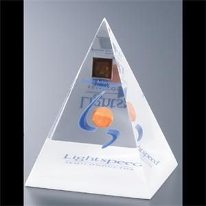 "Blank Goods. Four Sided Pyramid Paperweight Or Award Embedment, 3"" X 3"""