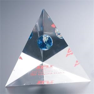 "Blank Goods. Three Sided Pyramid Paperweight Or Award, 4"" X 6"" X 4"""
