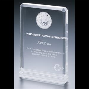 "Blank Goods. Clear Acrylic 5"" X 7"" X 1"" Award"