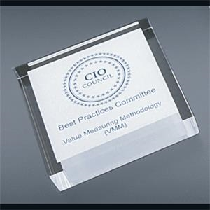 "Corporate Series - Blank Goods. Clear Acrylic Square Paperweight, 2 1/2"" X 2 1/2"" X 3/4"""