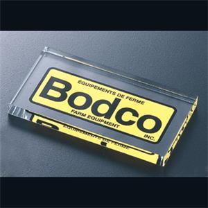 "Economy Series - Blank Goods. Clear Economy Acrylic Rectangle Paperweight, 4"" X 2 1/2"" X 3/8"""