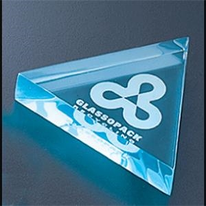 "Executive Series - Blank Goods. Acrylic Triangular Paperweight, 3 1/2"" X 3 1/2"" X 3/4"""