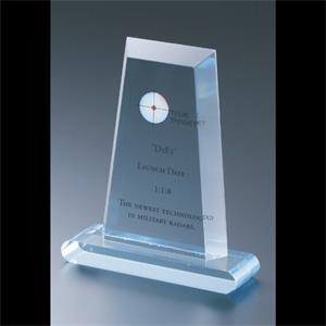 "Executive Series - Blank Goods. Acrylic Flat Obelisk Award, 4"" X 6"""