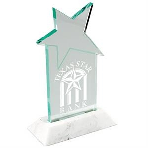 "Designer Star Acrylic Award With 3/8"" Thick Base. W 3"" X 7"""