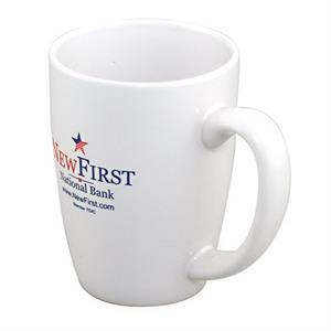 Challenger Grande - White Ironstone Unique Shape Mug, 14 Oz