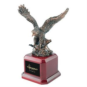 Bronze Eagle Award With Rosewood Finish Square Base