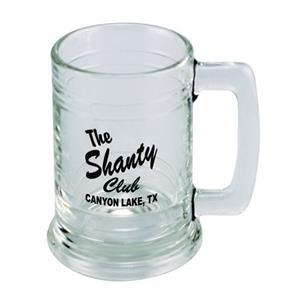 Colonial - Heavy Base 15 Oz. Clear Glass Tankard Style Mug