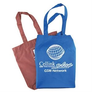 "Polyester Value Tote With 18"" Handles, W 11"" X 13 3/4"" X 3"""