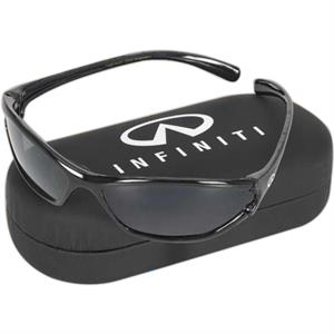 The Hiker - Sunglasses With Uv Protection. Black Hard Clam Shell Case