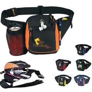 All-star 600 Denier Poly Fanny Pack With Hidden Mesh Bottle Holder
