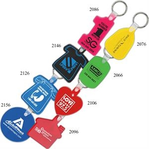 Oval Soft Squeezable Key Tag