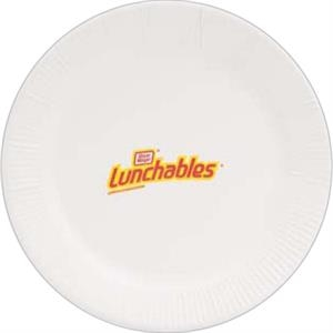 "500 Line - 5 Working Days - White 9"" Round Paper Plate"