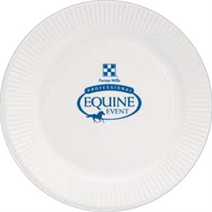 "500 Line - 5 Working Days - White 7"" Round Paper Plate"