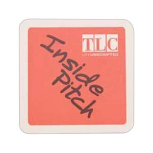 "500 Line - 5 Working Days - White 4"" Square High Density 40 Point Coaster"