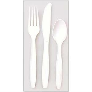 "500 Line - 10 Working Days - White Plastic Four Prong Fork, 5.75"" Long"