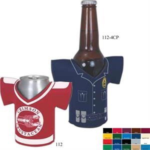 "Shirt Coolie (tm) - Four Color Process Shirt Shaped Insulated Can Or Bottle Holder, 1/8"" Foam"