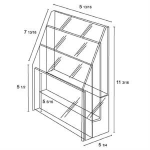 """3-Tier acrylic brochure holder for 5 1/2\""""W literature"""