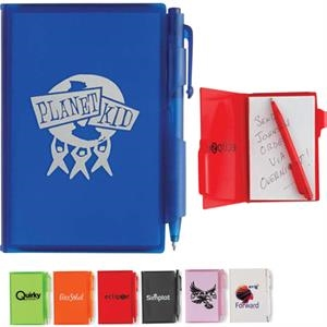 Composition - Jotter Pad With Translucent Colored Cover And Matching Mini Pen