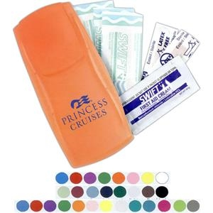 Instant Care Kit(tm) - First Aid Kit In A Trim, Reusable Plastic Case With Bandages And Cream Packet