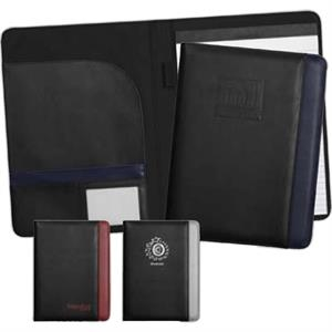 Aspire - Ultrahyde Premium Simulated Leather Padfolio With Color Accent
